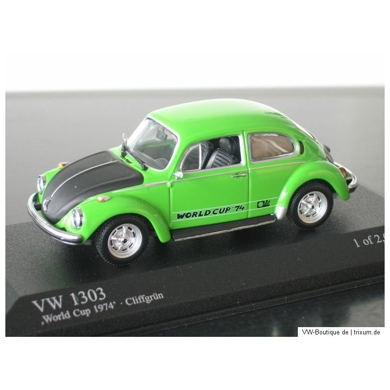 VW Beetle 1303 World Cup 74 cliff green 1:43 - VW-Boutique