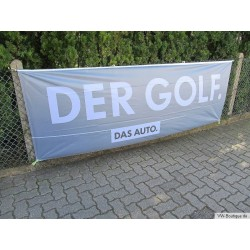 "VW Golf Banner Flag ""DER GOLF - DAS AUTO"" 1 x 3 meter gray ORIGINAL"
