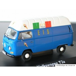 VW T2a high roof advertising ice cream Blue-White 1:43