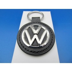 VW keychain leather metal ORIGINAL
