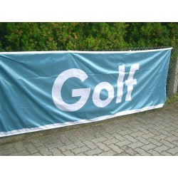 VW Golf banner / flag Original white blue