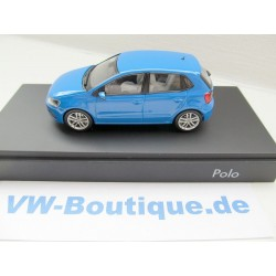 VW Polo 5 6C1 4-Door blue 1:43