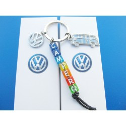 VW Bus Bulli Camper Keychain Set 5 pieces
