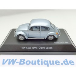 VW Käfer 1600 Schuco 1:43 + Ultima Edition speedblau +  VOLKSWAGEN 450387600