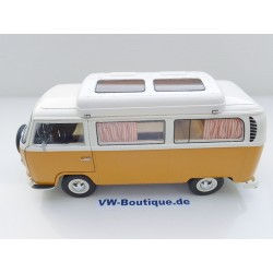 VW T2 a Camping-Bus yellow-white from Schuco 1:18  450018700  New