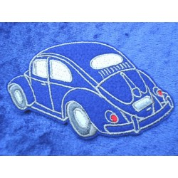 VW Käfer Aufnäher  Sticker  Patch Ovali Blau