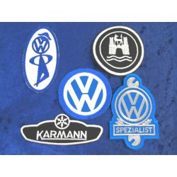 VW Patch Sticker set of 5 (Karmann, Specialist)