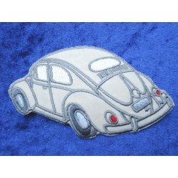 VW Beetle Ovali Patches Sticker beige