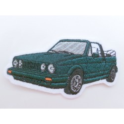 VW Golf 1 Convertible Patches green