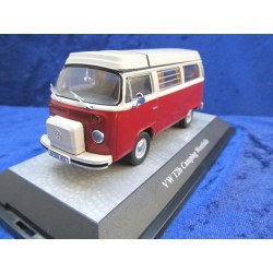 VW T2b Camper pop-up red-white 1:43