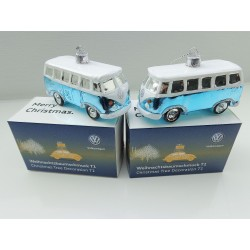 VW T1 Bulli Bus Christmas ball 2 piece ORIGINAL turquoise