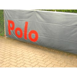 VW POLO banner / flag in gray red
