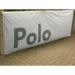VW POLO Fahne Flagge hellgrau ORIGINAL