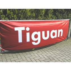 VW Tiguan flag red / white ORIGINAL