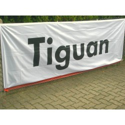 VW Tiguan Ensign flag white / gray 3x1m