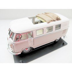 VW T1 bus window folding roof beige / white