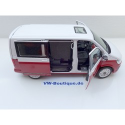 VW T6 Bus Bulli Multivan red-white 1:18 from NZG   9541/10