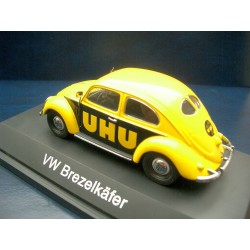 VW Beetle 1200 Brezelkäfer with UHU Advertising