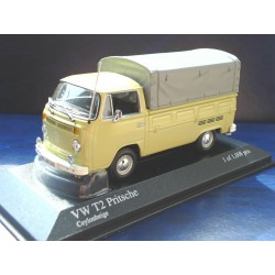 VW T2b flatbed covered beige ceylon 1:43