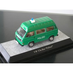 VW T3 a high roof police - only 500 pieces - 1:43