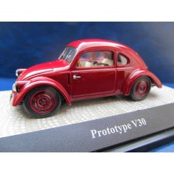 VW V3 Versuchswagen dark red Beetle prototype KDF