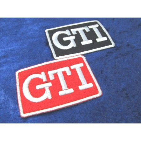 VW Golf GTI Pirelli Patches red / black (2 pieces)