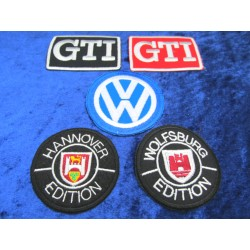 VW set of 5 GTI Hannover Wolfsburg Edition Patch Sticker