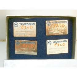 VW VOLKSWAGEN CLUB Pin Set, with 2 production errors very rarely