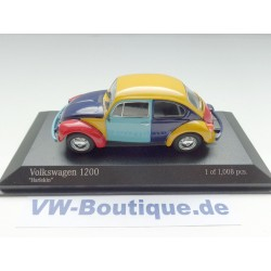 VW Beetle 1200 Harlekin from Minichamps in 1:43 +  400057102