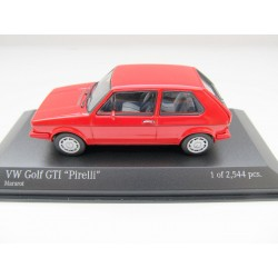 VW Golf 1 GTI Pirelli from Minichamps in 1:43  * red *  NEU 400055170