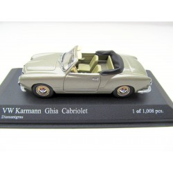 VW Karmann Ghia Cabrio 1:43 Minichamps  - Diamantgrau - Typ 14  430051045