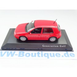 "VW Golf 4 GTI 4-Door ""Generation Golf"" red 1:43"
