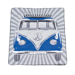 VW T1 bus fleece blanket 150x200cm - BULLIPARADE / BLUE