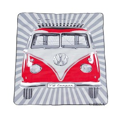 VW T1 Bus Picnic Blanket (200X150cm) with Carrying Case - Blue