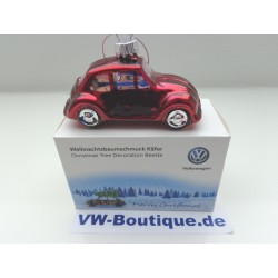 VW Beetle Christmas ball 2 piece ORIGINAL  gold