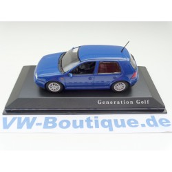 VW Golf 4  4-Türig  blau 1:43 Minichamps