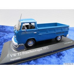 VW T2b Flatbed in neptune blue