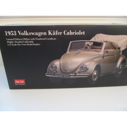 VW Beetle 1200 Brezel Convertible in 1:12  Sunstar 1953  VOLKSWAGEN NEW 5212