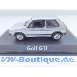 VW Golf 1 GTI from NOREV in 1:43 + silver + 840079 VOLKSWAGEN New