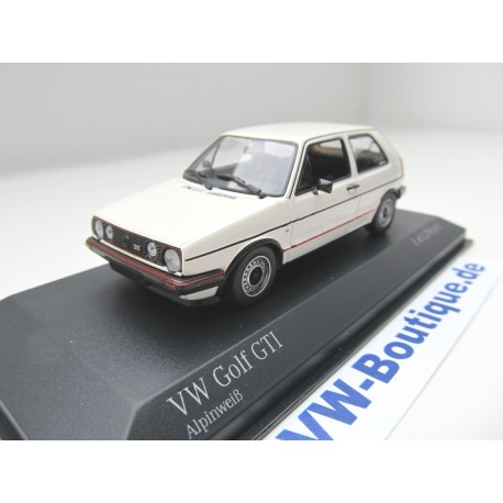 vw golf 2 gti von minichamps in 1 43 weiss volkswagen. Black Bedroom Furniture Sets. Home Design Ideas