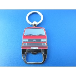VW T3 Bus Keychain with Bottle Opener - blue