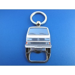 VW T3 Bus Keychain with Bottle Opener - red