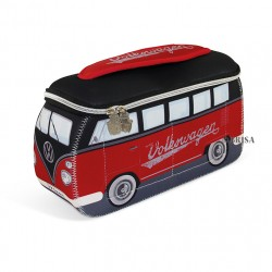 Genuine Volkswagen VW T1 BUS 3D NEOPRENE UNIVERSAL Bag - red black toilet bag