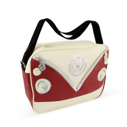 Genuine Volkswagen VW T1 shoulder bag cross red / black