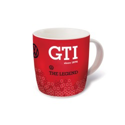 VOLKSWAGEN VW GTI Kaffeetasse 370ml in Geschenkbox - The Legend rot