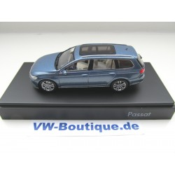 VOLKSWAGEN VW Passat Estate B8 1:43 Herpa 3G9.099.300.A.B5J blue New