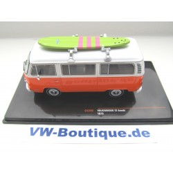 VOLKSWAGEN VW T2 b Bus orange/weiß in 1:43 IXO CLC302