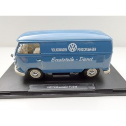 VW T1 bus window Deluxe folding roof blue / white 1:18