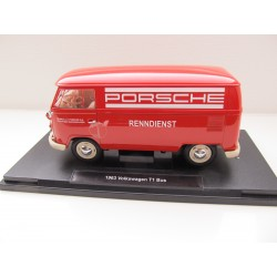 VOLKSWAGEN VW T1 Bus 1:18 by Welly Porsche Renndienst 18053W