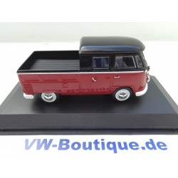 VOLKSWAGEN VW T1 bus double cabin from NOREV iin red / black 1:43 840218